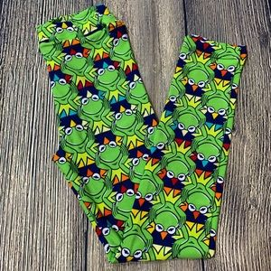 LuLaRoe Disney leggings Kermit the frog NEW